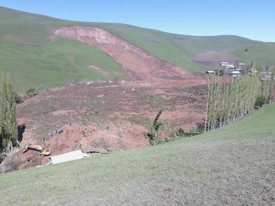 Uzgen Landslide Photo