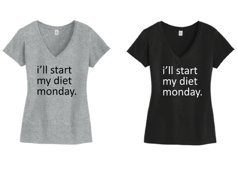 Monday Diet Tshirt Buy Now