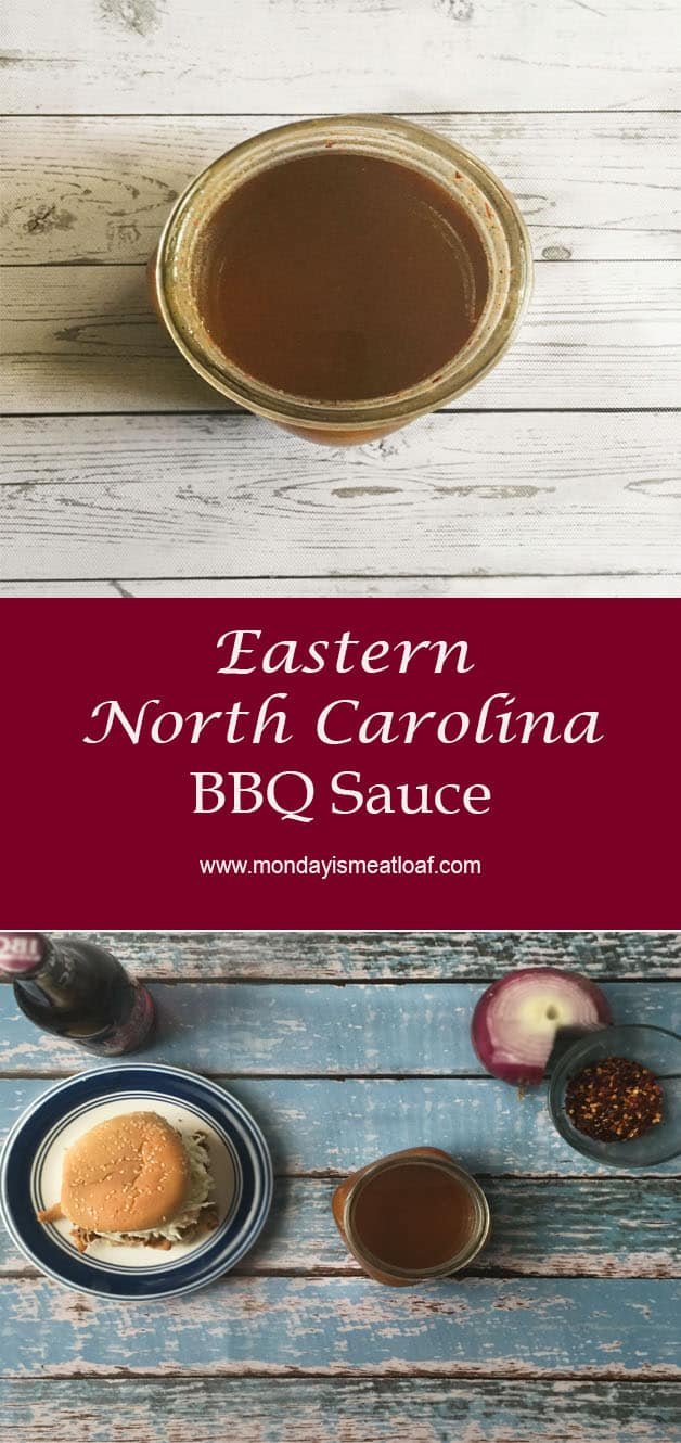 Easy to make! A tangy and unique BBQ sauce that is sure to elevate your pulled pork for BBQ season! #Carolinasauce #bbqsauce #pulledpork #northcarolinabbqsauce