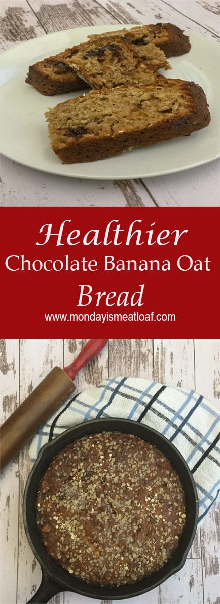 Nothing beats a good quick bread. It's simple, and easy to make. This healthier chocolate banana oat bread is packed with protein. This makes a great grab and go breakfast!