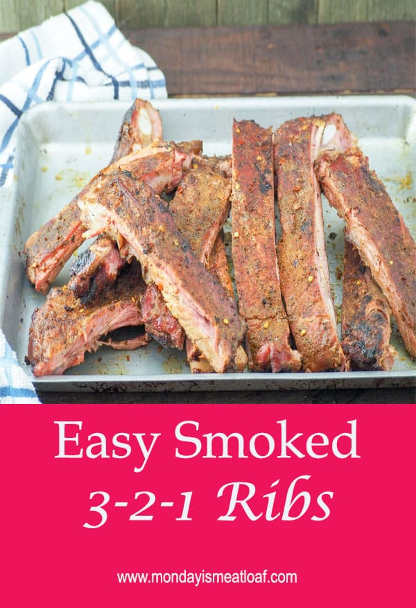 Easy 3-2-1 Smoked Ribs - Easy to make smoked ribs using a reliable method that makes tender, succulent ribs that melt in your mouth! Great for any cookout, party, meal prep, or potluck!