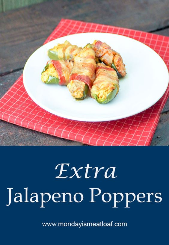 These Extra Jalapeno Poppers appetizers have a surprise flavor waiting for you! Filled with cream cheese and chorizo then wrapped in bacon these will be a new favorite! I promise there won't be any leftovers at your next cookout, party, or dinner table! #jalapeno #jalapenopoppers #appetizerrecipe #appetizer