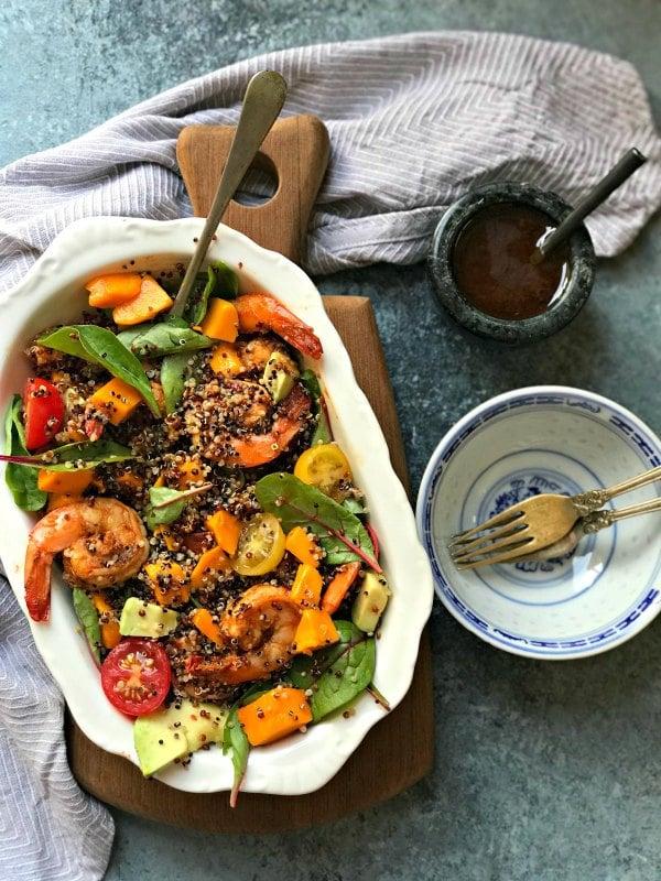 Mango Shrimp Salad with Quinoa and Avocado