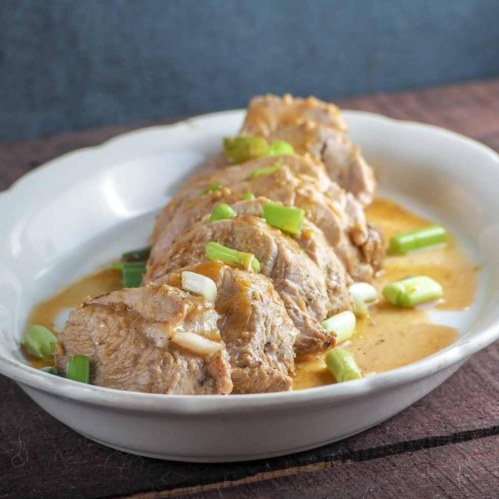 instant pot garlic ginger soy pork tenderloin