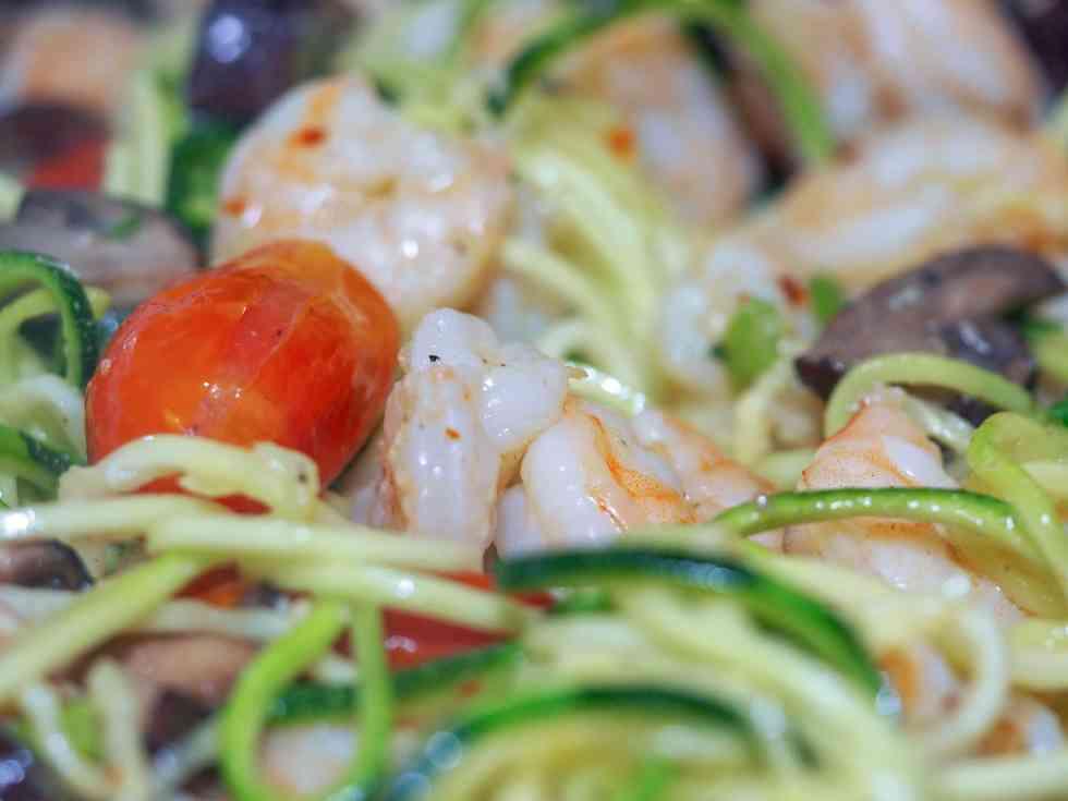 Keto Shrimp Scampi Zoodle Skillet