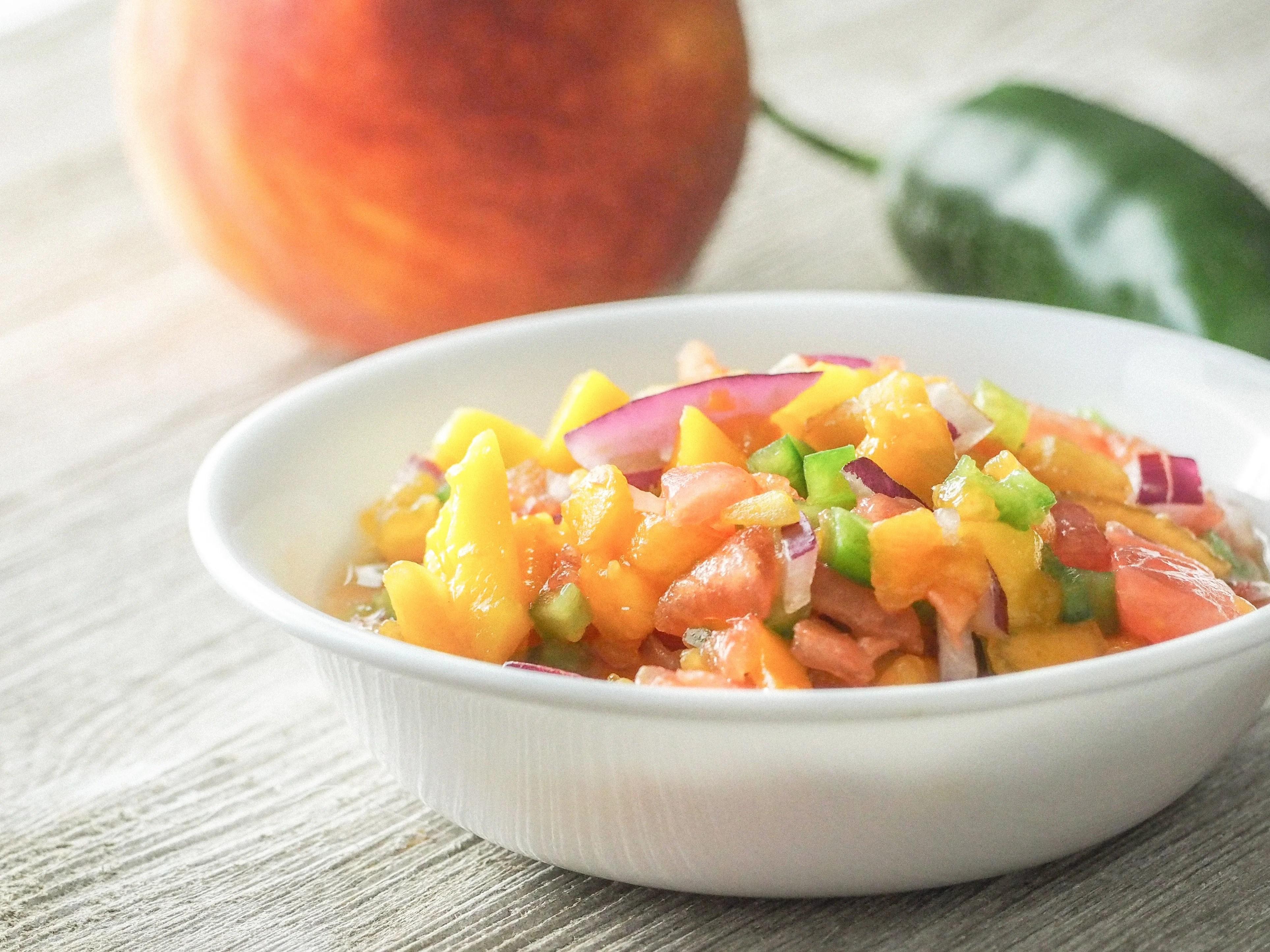 Fresh Mango Peach Salsa