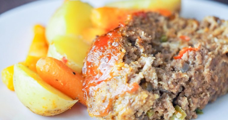 Instant Pot Meatloaf with Italian Roasted Vegetables