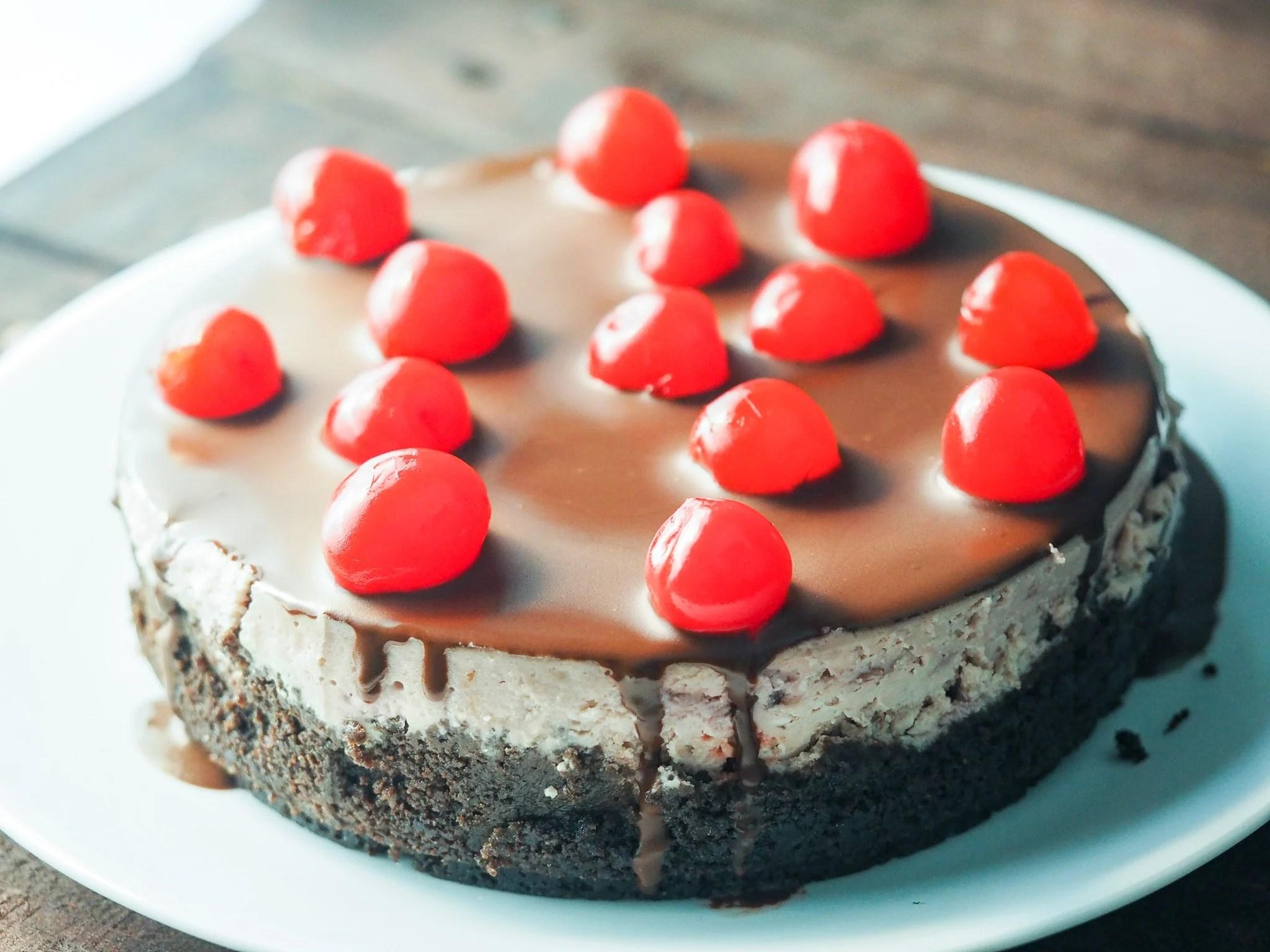 Easy Instant Pot Cherry Chocolate Cheesecake