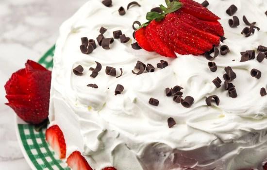 Instant Pot Chocolate Strawberry Cake