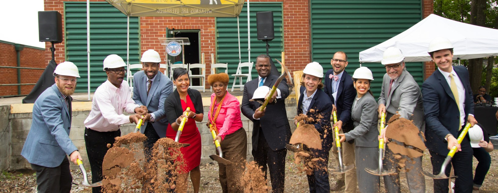 Groundbreaking with Mayor Reed at The Garage