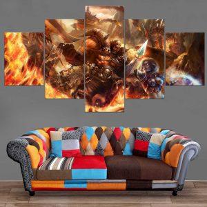 Décoration Murale Warcraft Orc Vs Elfe