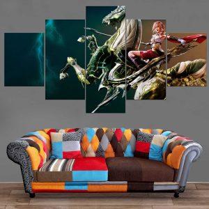 Décoration Murale Final Fantasy Lightning Attack