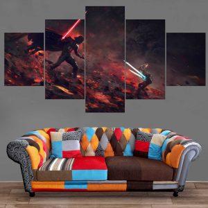Décoration Murale Star Wars Dark Vador Fight