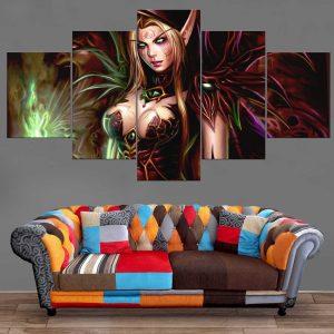 Décoration Murale Warcraft Elfe