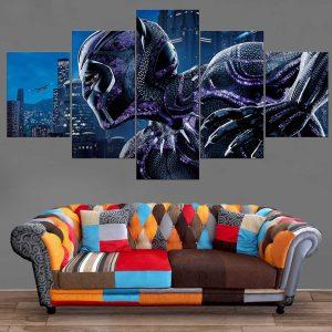 Décoration Murale Avengers Black Panther Shadow