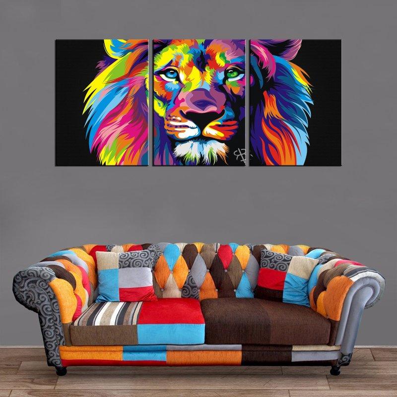 Décoration Murale Lion Painting