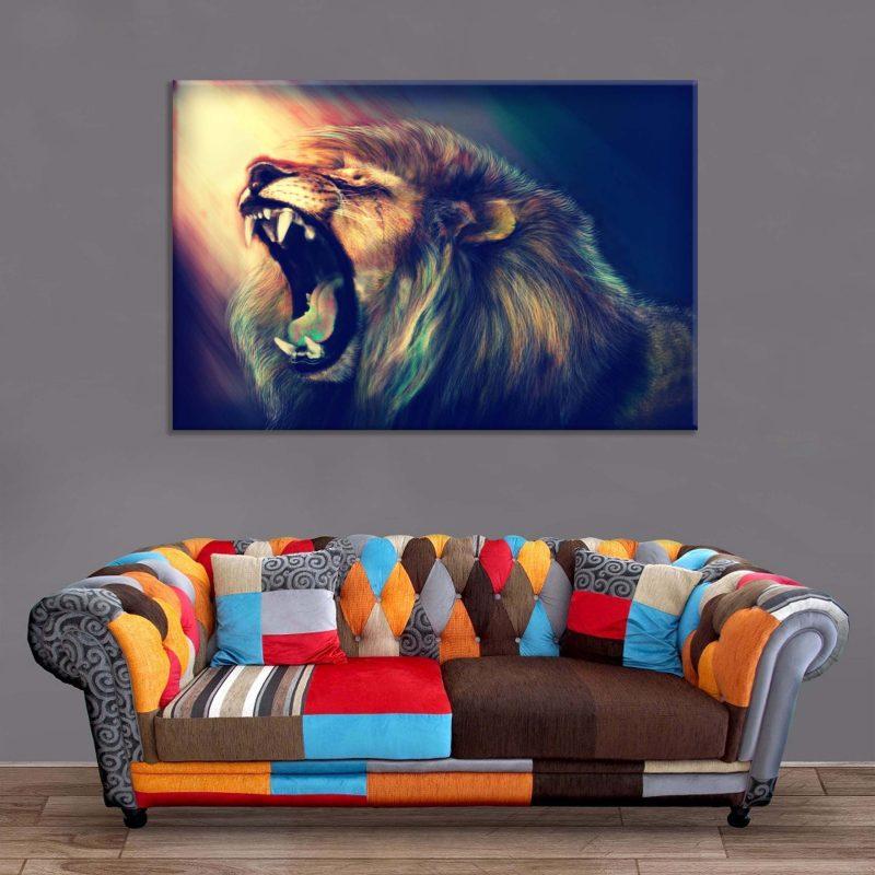 Décoration Murale Lion Rugissement