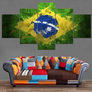 Décoration Murale Drapeau Brésil