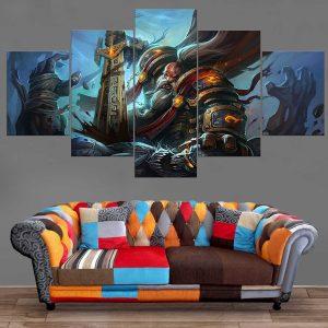 Décoration Murale Warcraft Guerrier Nain