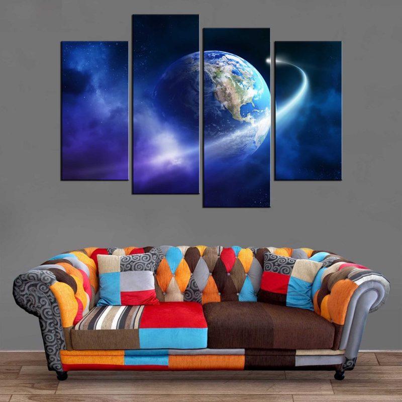 Décoration Murale Planète Terre Comète