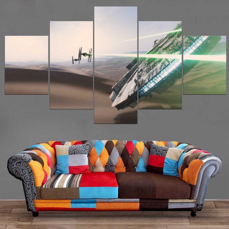 Décoration Murale Star Wars Faucon Millenium