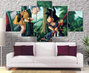Décoration Murale Dragon Ball Z Goku Kid X Bulma
