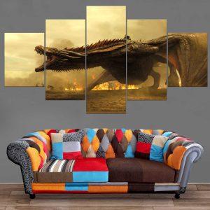 Décoration Murale Games Of Thrones Mère des Dragons