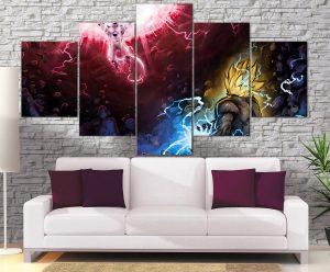 Décoration Murale Dragon Ball Z Goku Vs Freeza
