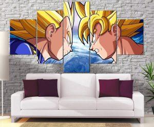 Décoration Murale Dragon Ball Z Goku Vs Vegeta