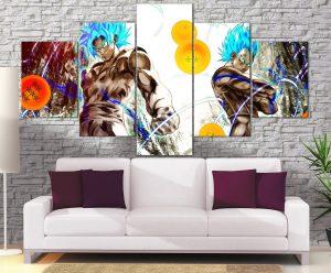 Décoration Murale Dragon Ball Super Goku X Vegeta