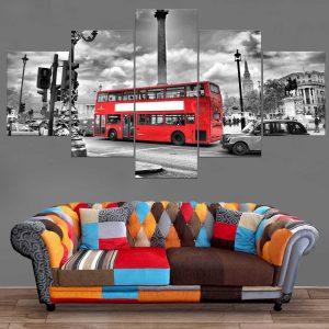 Décoration Murale Ville Londres Bus Londonien
