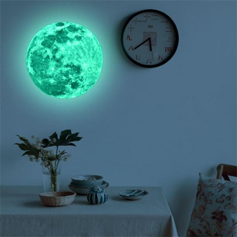 Sticker Mural Lune Fluorescent