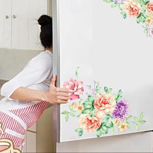 Stickers muraux fleurs pour frigo, meubles et toilette