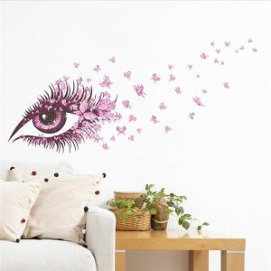 Sticker œil et papillons