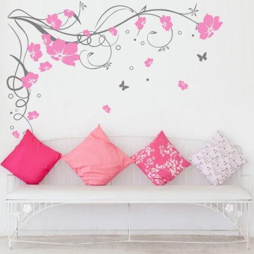 Stickers Muraux Fleurs et Papillons