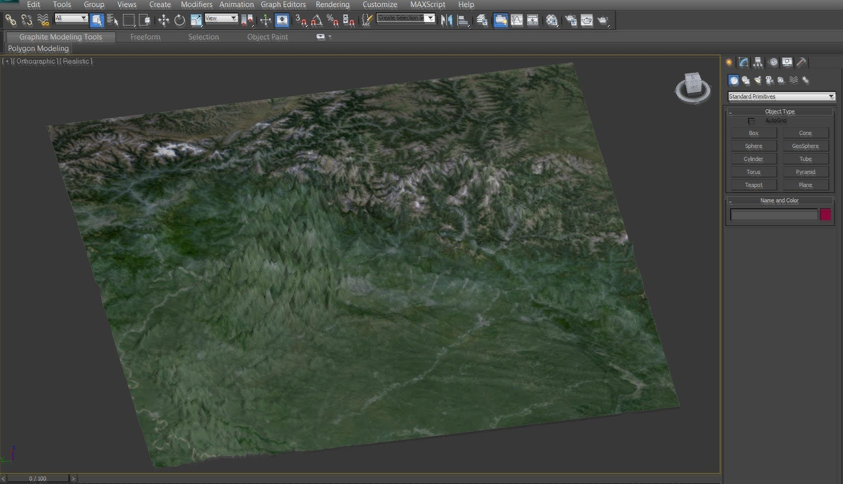 Creating a Highly Detailed 3D Terrain in 3Ds Max with Google Earth