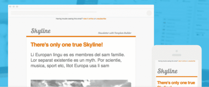 Template newsletter skyline