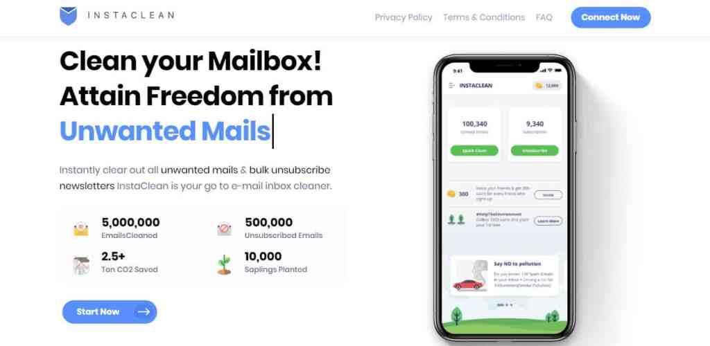 InstaClean : Nettoyer sa boite mail rapidement