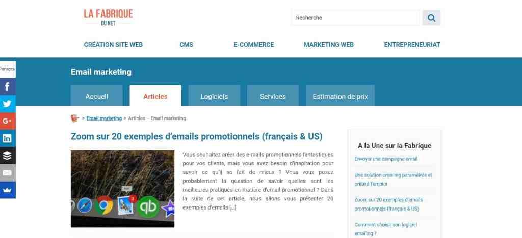 Email Marketing La Fabrique du Net