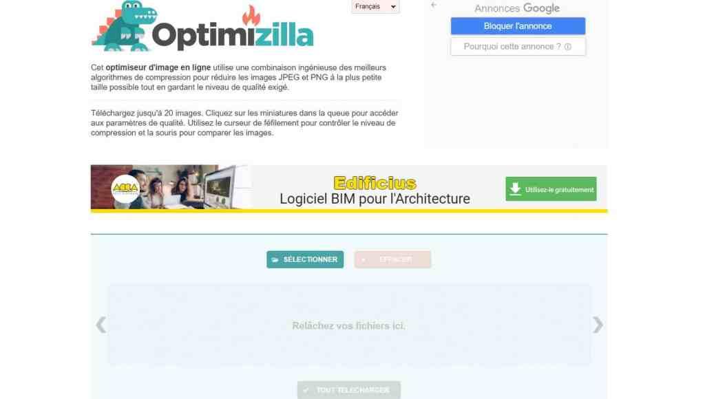 Optimizilla : le meilleur logiciel pour compresser une photo