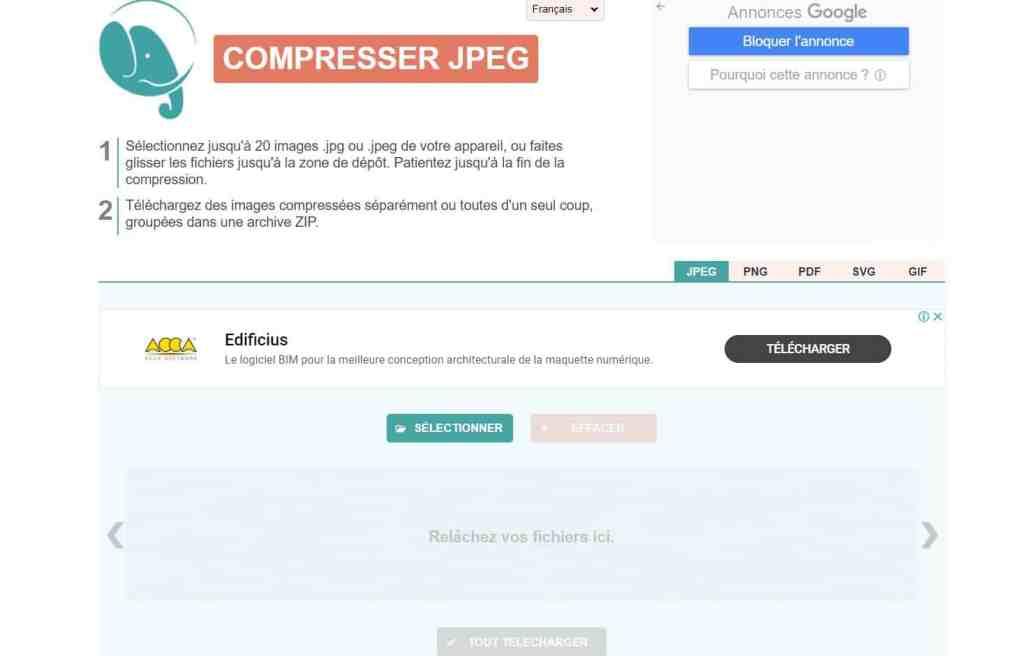 CompressJPEG : Compression d'images facile à utiliser