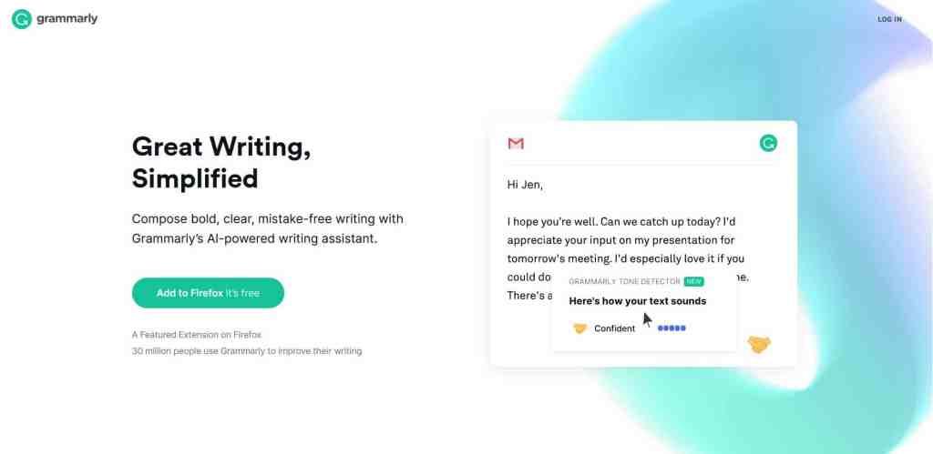 Grammarly : La meilleure des extensions Chrome pour les emailing