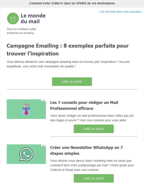 Campagne Emailing : Définition et bonnes pratiques en 2021 : extrait de notre newsletter