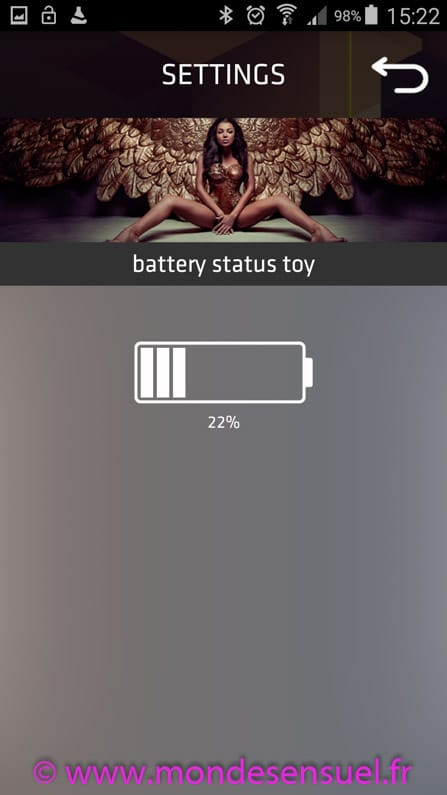 application vive batterie
