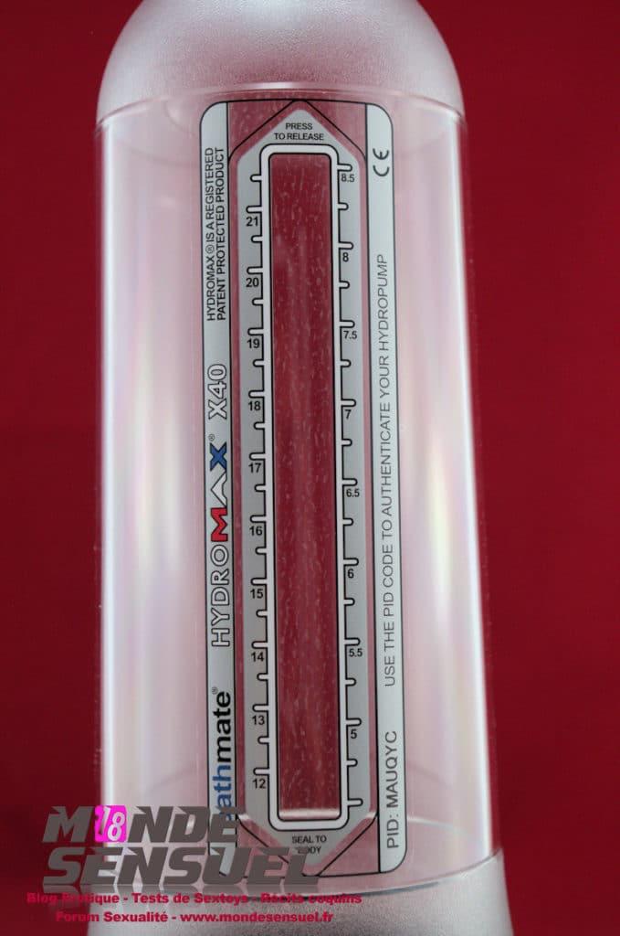 hydromax x40 mesure