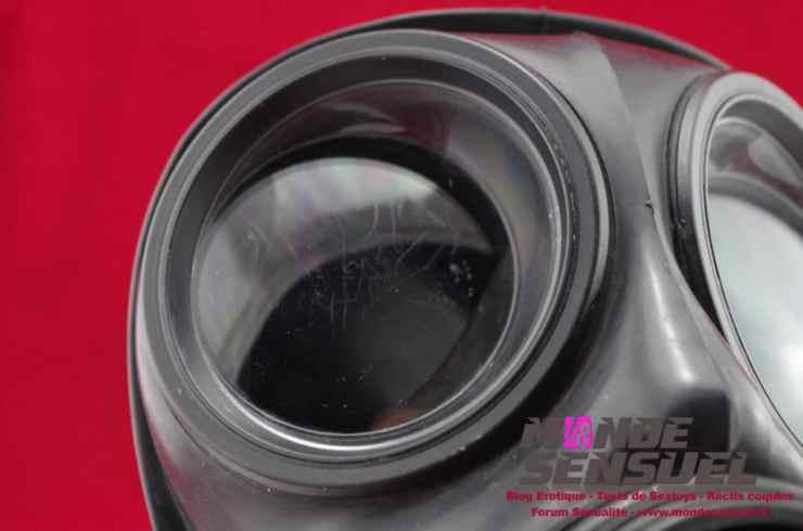 verre abimé masque à gaz