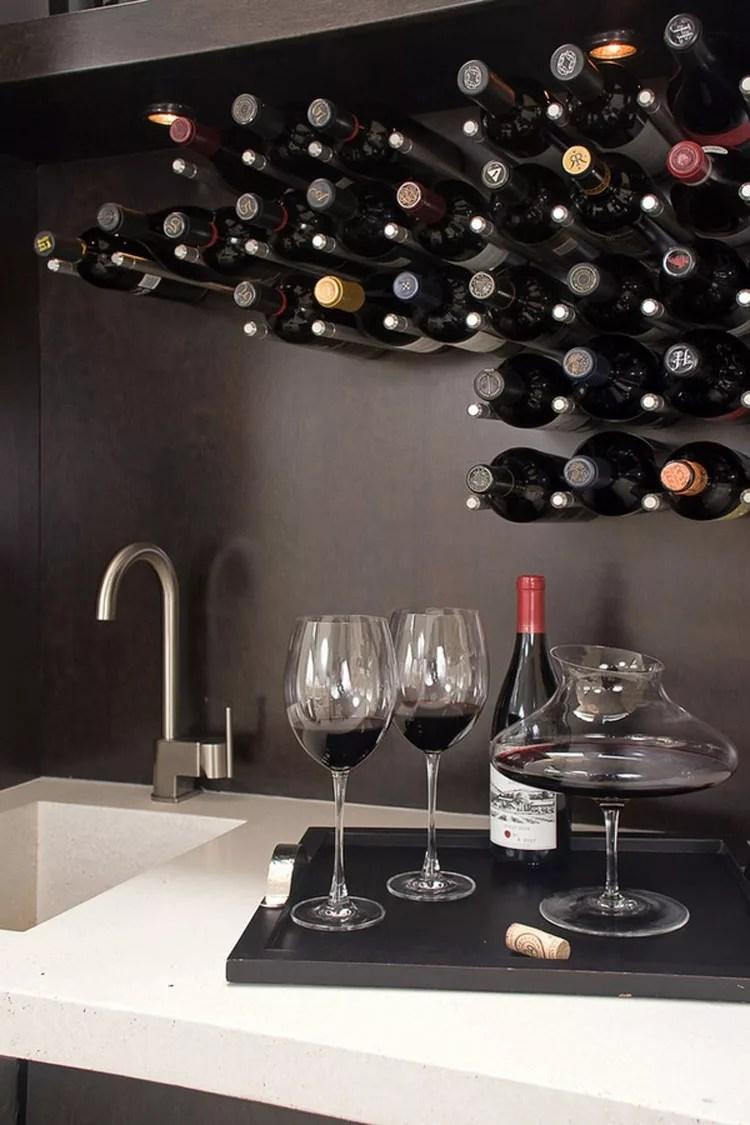 Patrón de soportes para botellas de vino N.02 Wall