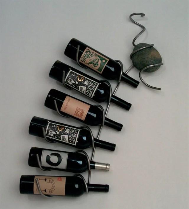 Patrón de soportes para botellas de vino 11 de pared