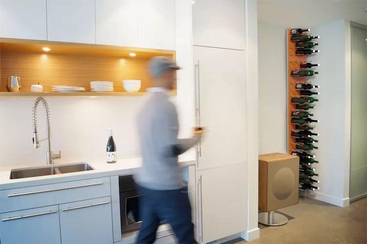 Patrón de soportes para botellas de vino 20 de pared
