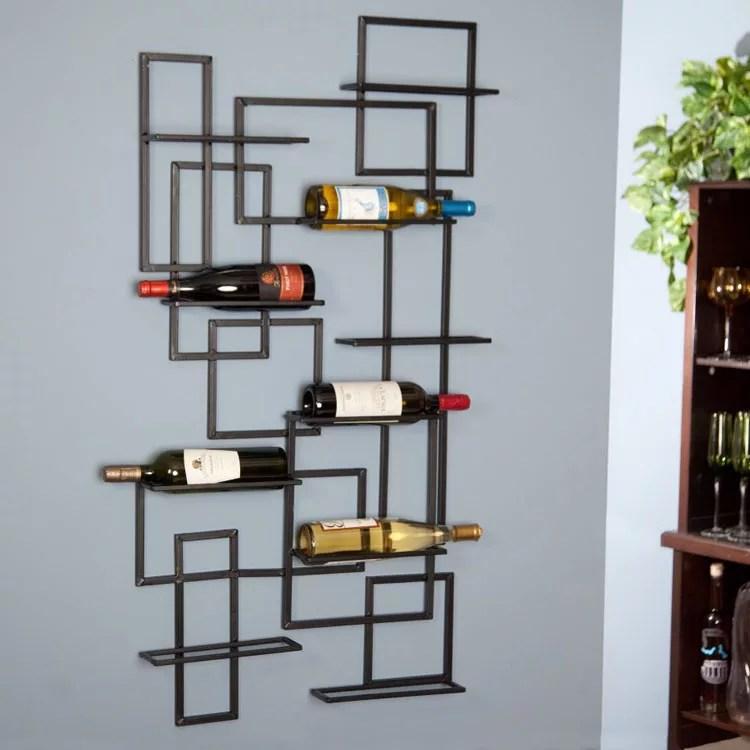 Patrón de soportes para botellas de vino 25 de pared